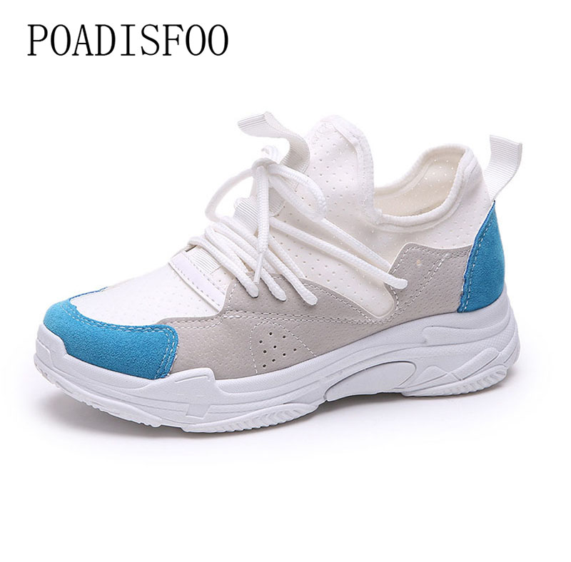 2018 New Womens Fashion Sneakers Mixed Colors Sport running shoes for women autumn shoes pink blue FZZ-2833