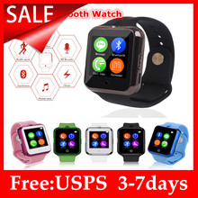 Bluetooth reloj inteligente C88 Sync notificador ayuda SIM TF tarjeta multilenguaje SmartWatch para el IPhone IOS Android 0.3 MP cámara