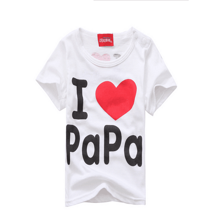 Fashion-Design-Summer-Thin-Short-Sleeve-Simple-Letter-Love-Mom-and-Dad-Baby-Cotton-Short-Sleeved-T-shirt-TST0015-1