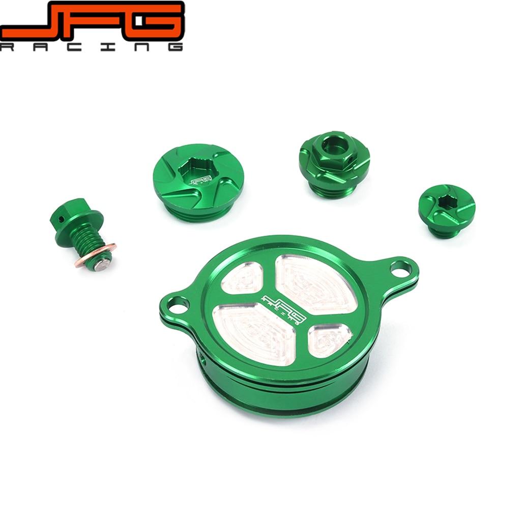 Green CNC Guard Cap Timing Oil Filter Screw Bolt For KAWASAKI KXF450 KX450F KXF 450 2009