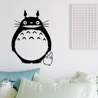 DIYWS Japanese Wall Stickers Wholesale And Retail Wall Decoration PVC Material Decals My Neighbor Totoro