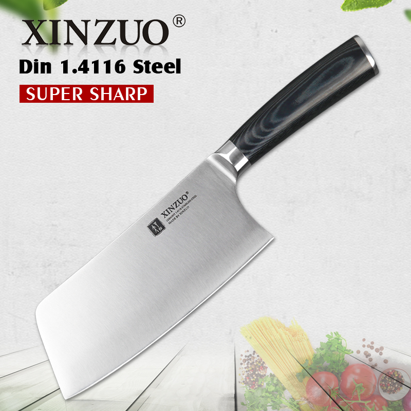 Xinzuo 6 5 Big Knife Best Quality German 1 4116 Stainless Steel 58hrc Kitchen Knife Chinese Cleaver Slice Knives Micarta Handle