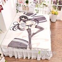 Anime Date A Live Kurumi Tokisaki Bed Bedding Sheet 3d Sexy Bedsheet Carpet Manga Fitted Duvet Covers Flannel Quilt