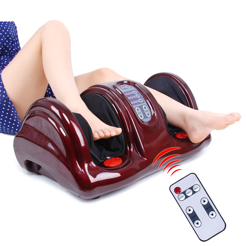 KLASVSA Electric Heating Foot Body Massager Shiatsu Kneading Roller Vibrator Machine Reflexology Calf Leg Pain Relief Relax newly new 5 rows wheel wooden massager wood roller foot massager relax relief