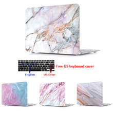 Print Marble Laptop Hard Shell Case Keyboard Cover Skin Set For 11 12 13 15″ Apple Macbook Pro Retina Touch Bar Air A1466 A1932