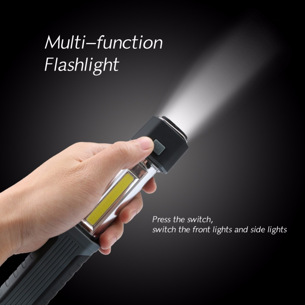 Multiple functions COB working lamp LED Telescopic lamp Portable Mini LED Flashlight for 3* AAA battery utility light camping