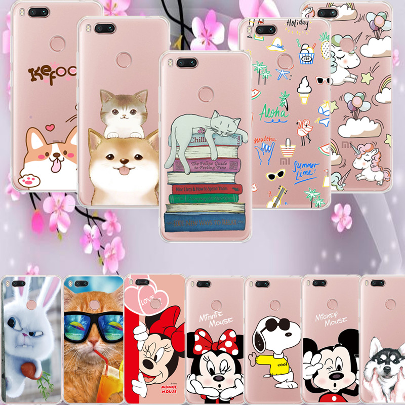 MPCQC The New Anime TPU Silicon Phone Case for Xiaomi Mi 6X 5x A1 6 3 Redmi Note 4X 5A 5 plus 4 4A S2 Painted Cartoon Back Cover
