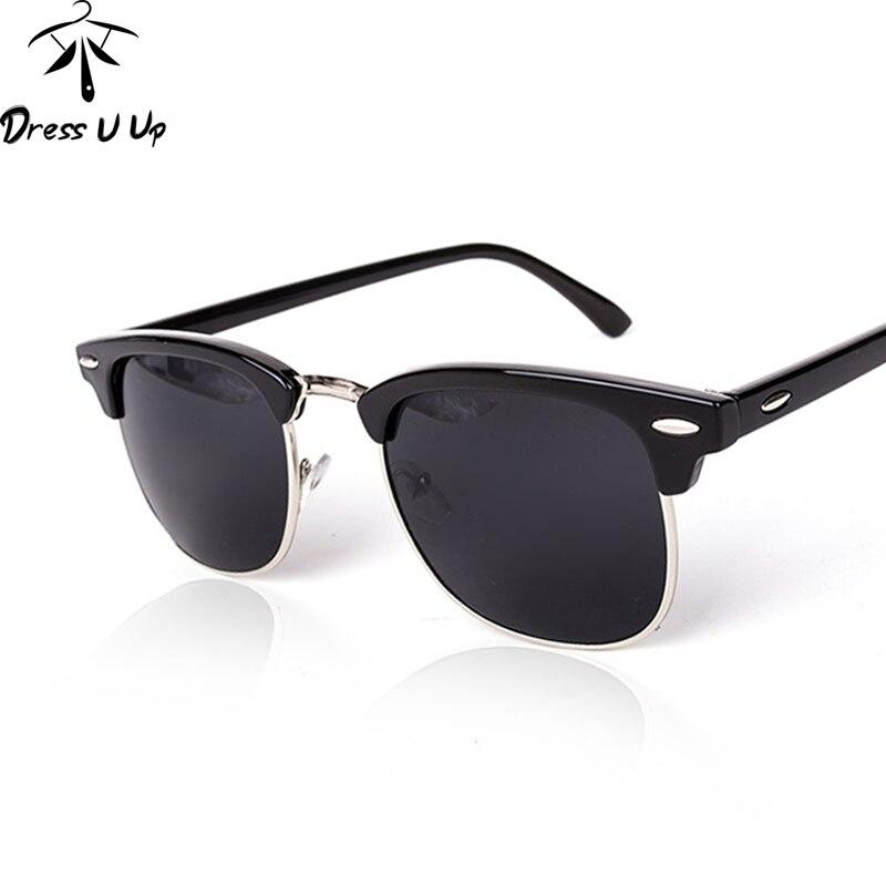 DRESSUUP clásicas del medio Metal Gafas De Sol hombres mujeres marca  diseñador Gafas De Sol Oculos Gafas De Sol UV400 4946fd3901