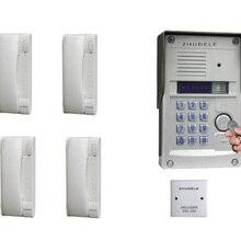 ZHUDELE наивысшего качества, 4-домофон для квартиры системы безопасности дома аудио дверной телефон наборы 008A+ 327R на открытом воздухе с паролем