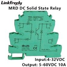 цена на MRD-060D10ACT 10pcs PLC Interface Solid State Relay Module 10A 24-280VAC Ouput Input: 5V 12V 24V DC SSR Voltage Relay DIN Rail