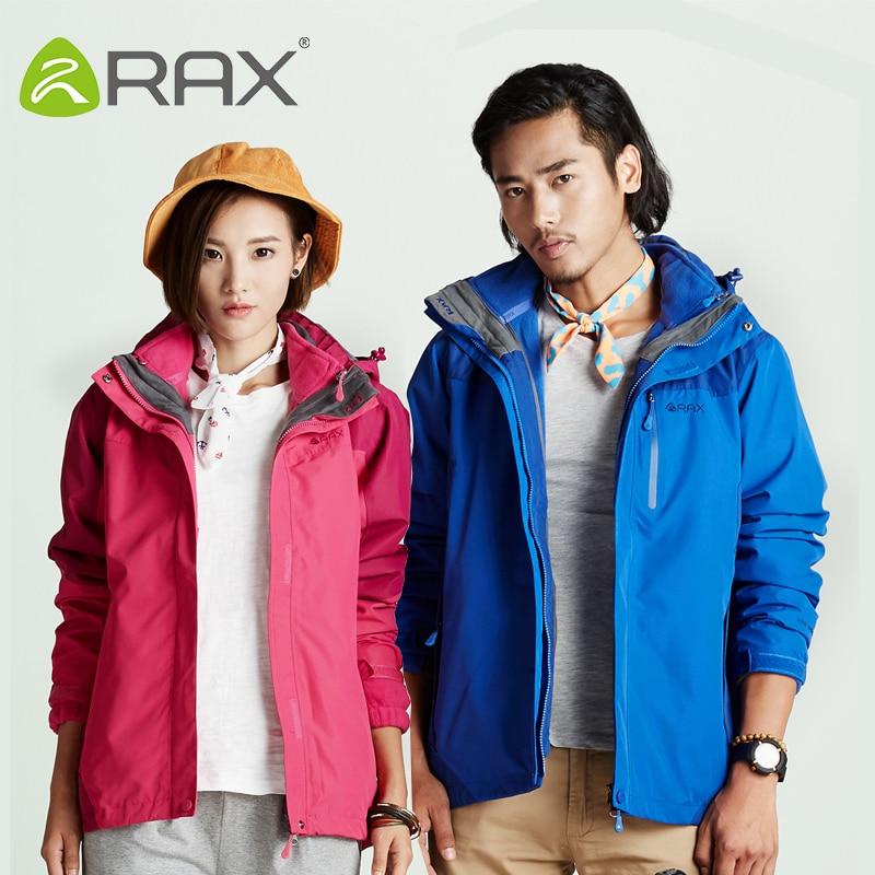 Rax Winter Waterproof Outdoor Hiking Jacket For Men and Women Windbreaker 3 in1 Softshell Jacket Women Men Fleece Jacket Men