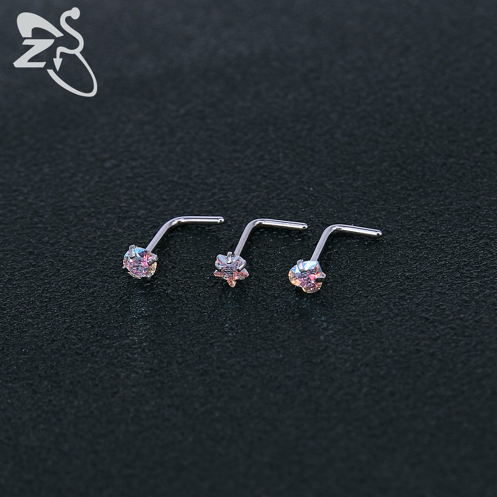 Jewelry Watches Body Piercing Jewelry 18g L Shaped Micro Nose