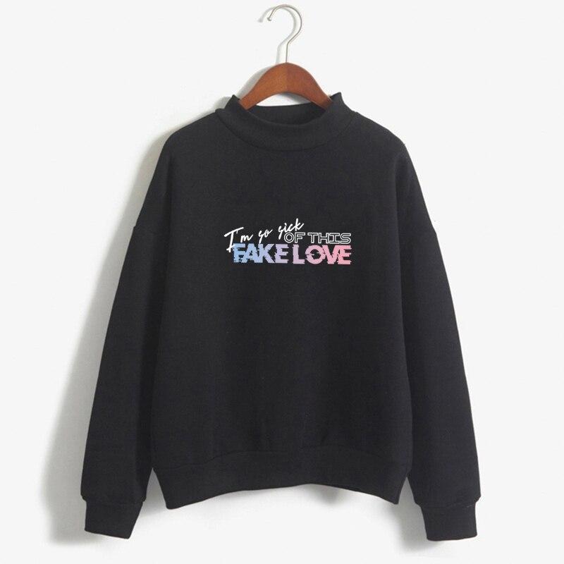New Arrival BTS K-Pop Bangtan Boys ARMY Print Hoodie I am so sick of this Fake Love Sweatshirt Women Fans Sweatshirt Clothes