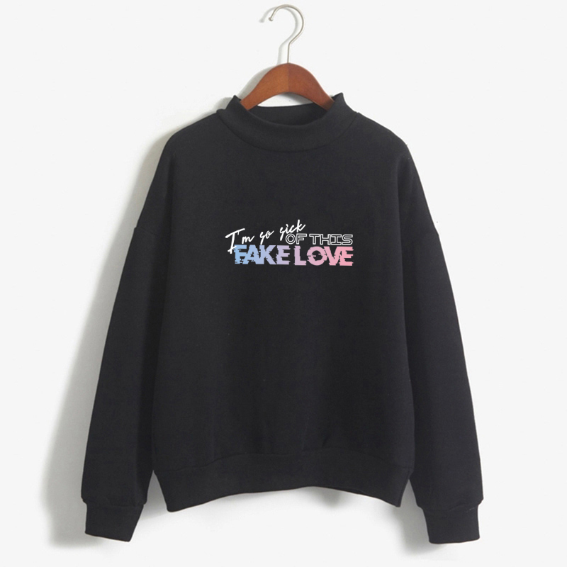 New Arrival K-Pop Bangtan Boys ARMY Print Hoodie I Am So Sick Of This Fake Love Sweatshirt Women Fans Sweatshirt Clothes