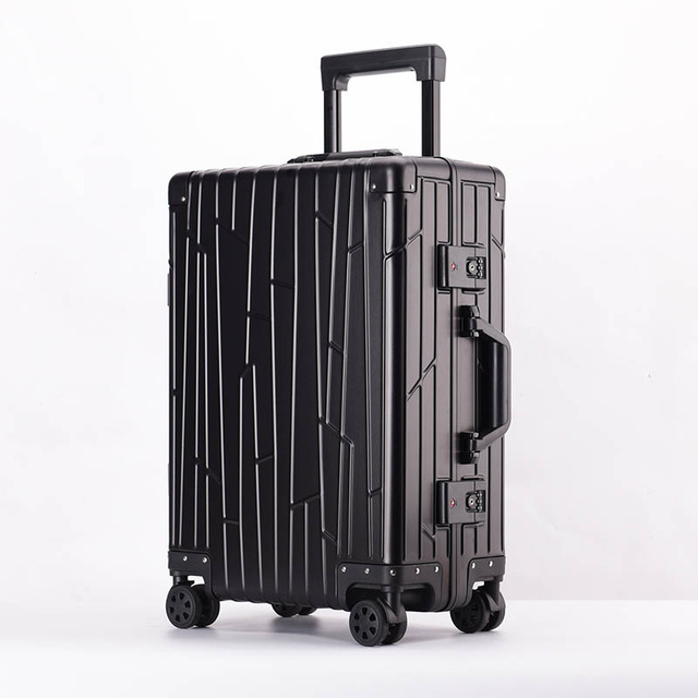 Travel tale 100% Aluminum-magnesium alloy Rolling Luggage Spinner Men Business Suitcase Wheels 20 inch Cabin Trolley Travel BagTravel tale 100% Aluminum-magnesium alloy Rolling Luggage Spinner Men Business Suitcase Wheels 20 inch Cabin Trolley Travel Bag