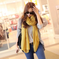 180*90CM Cachecol Feminino 2017 Winter Brand new Fashion Designer Solid long Cotton Blend Casual Scarf Women Scarves