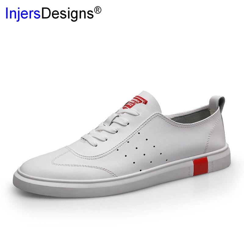 Sapatos Tênis Mocassins White Moda Homens Perfuração Black De Chegada Casuais Macio 46 amp; Plus Da Skateboarding Nova Respirável 36 white Black Size txg0qpZg