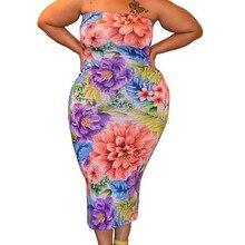 Платье Для женщин с открытыми плечами, без бретелек Для женщин s модная Соблазнительная обувь; большие Размеры с О-образным вырезом с открытой грудью многоцветная летнее платье Z4