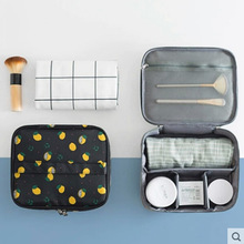 QIUYIN Portable Large-capacity Cosmetic Bag Hand Storage Bag Korea Small Waterproof Travel Portable Washing Portable Ladies