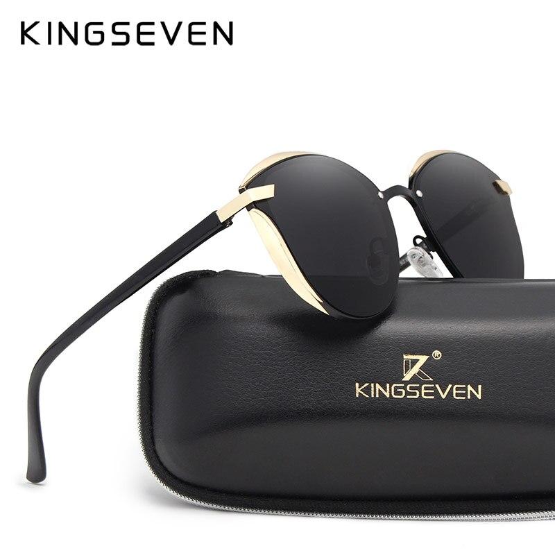 KINGSEVEN Cat Eye Sonnenbrille Frauen Mode Damen Sonnenbrille Weiblich Vintage Shades Oculos de sol Feminino UV400
