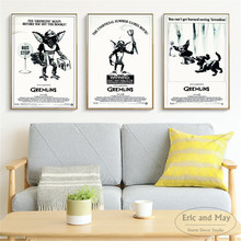 Gremlins 3 Pcs Black and White Posters And Prints Wall Art Canvas Painting For Living Room Decoration Home Decor Unframed Quadro
