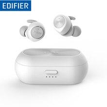 سماعة أذن من اديفير TWS3 لاسلكية V4.2 سماعات أذن داخلية مع صندوق شحن وأجنحة أذن قابلة للفصل زر متعدد الوظائف