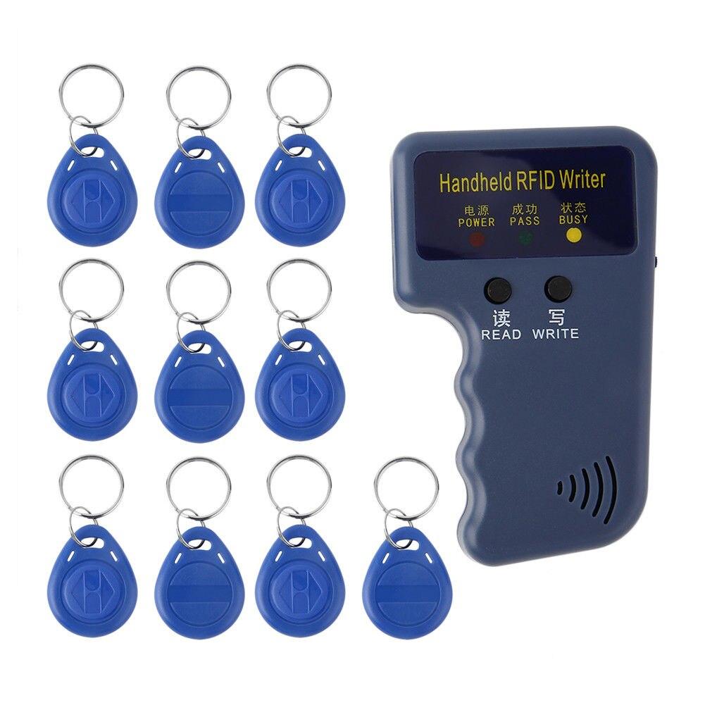 De poche 125 KHz RFID Copieur Inscriptible Duplicateur ID IC Carte Programmeur Lecteur + 5 Pcs EM4305/T5577 Réinscriptible Télécommandes