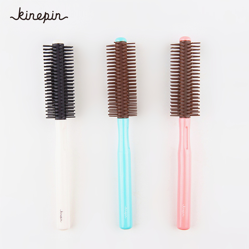 Fluffy Hair Comb Round Rolling Plastic Hairstyle Wavy Curly Hair Care Brush Hair Comb Hairdressing Barber Tools 3 ColorsFluffy Hair Comb Round Rolling Plastic Hairstyle Wavy Curly Hair Care Brush Hair Comb Hairdressing Barber Tools 3 Colors