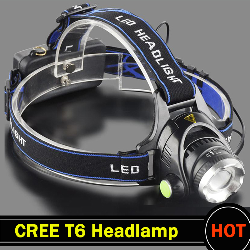 Headlight CREE T6 3000LM LED Headlamp Powered Head Lamp Torch LED Flashlights Biking Fishing Torch for 18650 Battery
