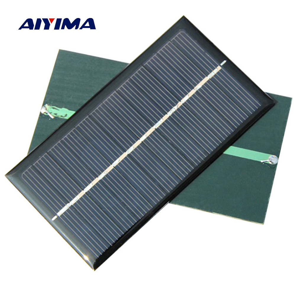 Aiyima 5pcs Solar Panel 1W 6V Polycrystalline Silicon Solar Drip Board For Solar Cell Diy 110*60mm