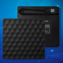 Ultra-Slim USB 3.0 Eksternal CD DVD-RW Drive ROM Penulis Ulang Burner Writer 5 Gbps Tanggal Transfer 14.8X14.2X1.8 Cm untuk Laptop Komputer Desktop(China)