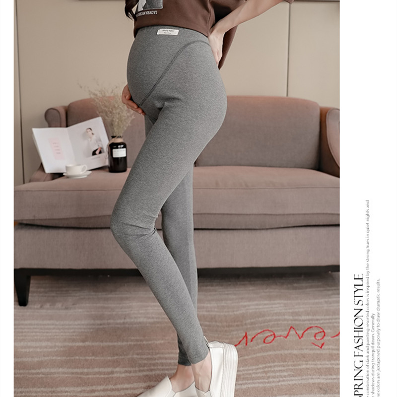 3105# Spring Autumn Cotton Skinny Maternity Legging High Waist Adjustable Belly Pants Clothes For Pregnant Women Slim Pregnancy