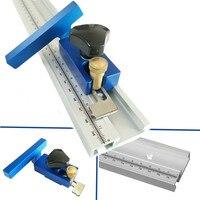 Faixa de liga de alumínio da mitra do t entalhe com escala para a tabela do roteador do woodworking t segue a parada 400/600/800 da trilha da mitra do entalhe|Conjuntos ferramenta manual| |  -