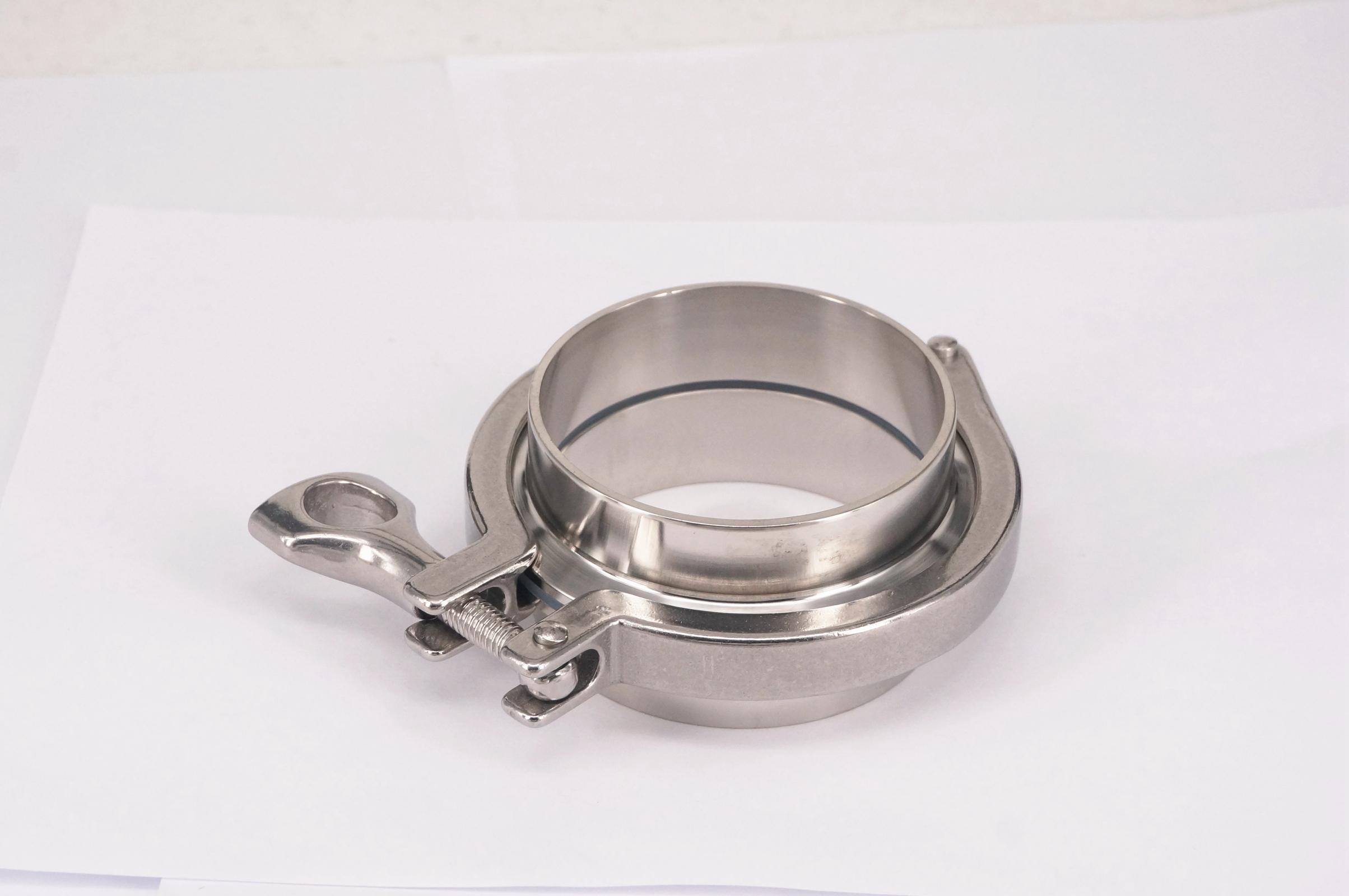 A Set 76mm 3 O/D Sanitary Tri Clamp Weld Ferrule + Tri Clamp + Silicon Gasket 304 Stainless Steel