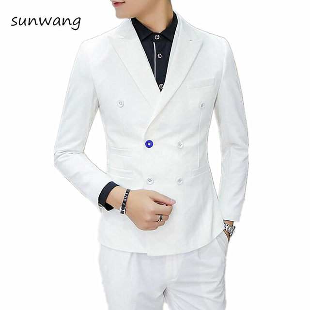 Online Shop 2017 Fashion Slim Fit Designer White Prom Suits Tailcoat ...