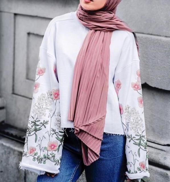10 Pcs/lot Fashion Plain Pleat Bubble Chiffon Scarf Wrinkle Long Stripe Shawls Hijab Crumple Pashmian Muslim Scarves/scarf