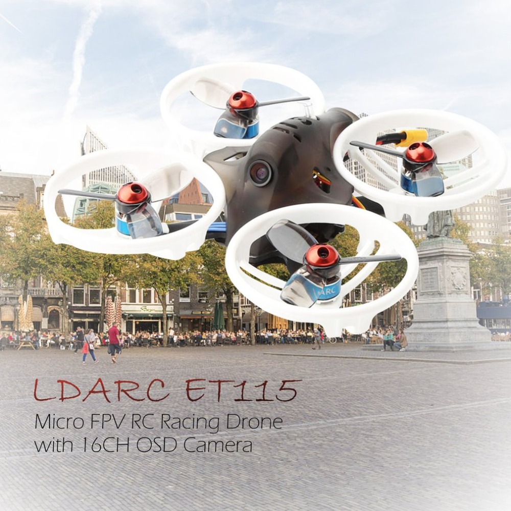 KINGKONG/LDARC ET 5.8G Series ET100 ET115 ET125 3S V2 Micro FPV Racing Drone 800TVL Camera 16CH 25mW 100mW VTX BNF