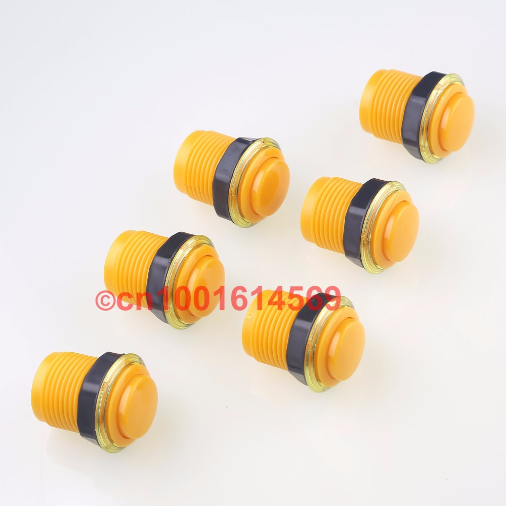 Reyann 35mm 6pcs lot of Arcade Push Button With Microswitch For MAME Games JAMMA Project font