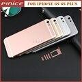 Для iPhone 6 s Корпус в Сборе Meteal Задняя Крышка Высокого Качества Назад Крышка батарейного Отсека Ближний Рамка Для 6 s Плюс Розовое Золото Серебро Серый