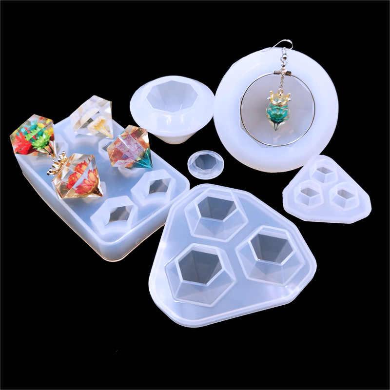 QIAOQIAO DIY  Diamonds Gem Silicone Cool Ice Maker Cube Mold Tray Chocolate Bar Party Mould CrystalMolds Tool