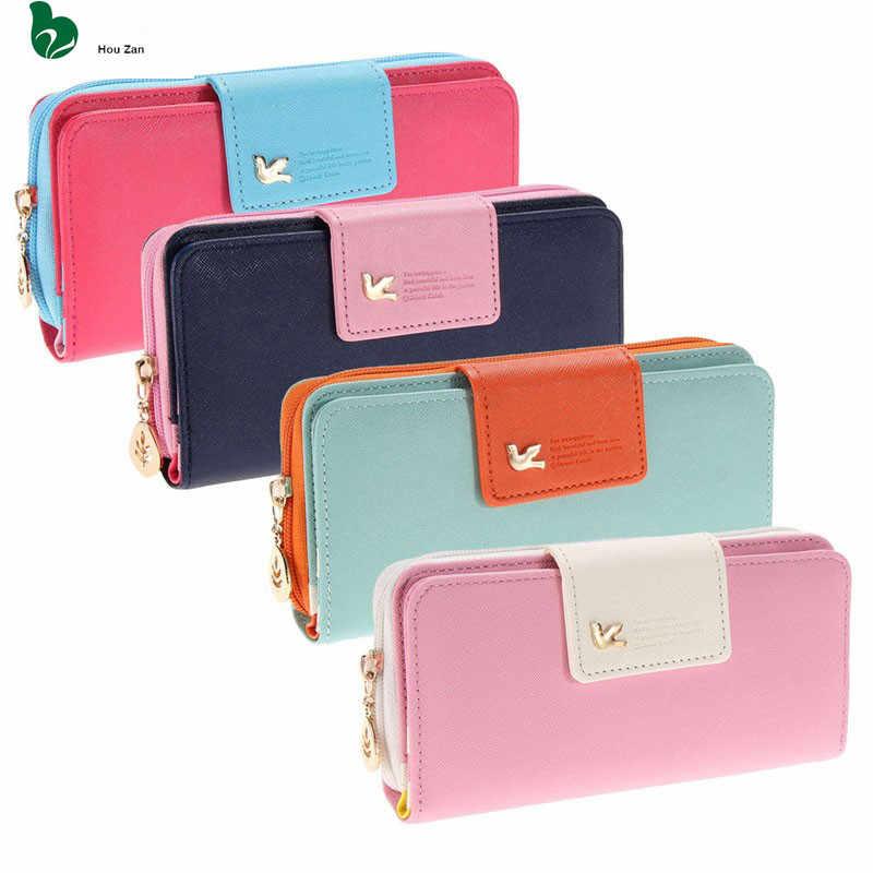 Moda Couro Pequena Mudança bolsa de Moedas de Euro Caso Chave Mulheres Carteira de Longo Zíper Bolsa de Mão Feminina Saco Das Senhoras Saco de Dinheiro Telefone para a Menina