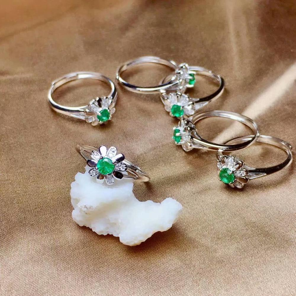 925 sterling silver real Natural green Emerald Rings fine Jewelry gift women wedding open wholesale new 4*4mm  mj0404190agml925 sterling silver real Natural green Emerald Rings fine Jewelry gift women wedding open wholesale new 4*4mm  mj0404190agml