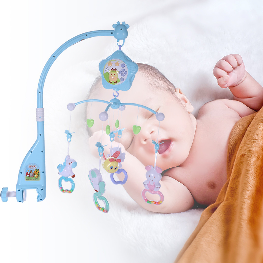 Baby Mobile For Crib Crib Toys With Music And Lights Remote Holder Projector