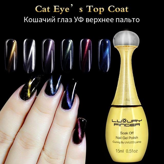 Luxe Vinger 1 st 15 ML Cat Eye Top Coat Losweken UV Gel Nail ...