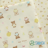 Good Fabric Hot Sale 2014 Cartoon 100 Cotton Fabric Cute DIY Handmade Rustic Linen Fabric Sofa