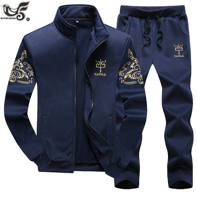 XIYOUNIAO Plus Size M~7XL 8XL 9XL New Men's Sportwear Suit Sweatshirt Tracksuit Hoodie Men Casual Outwear 2PC Jacket+Pants Sets