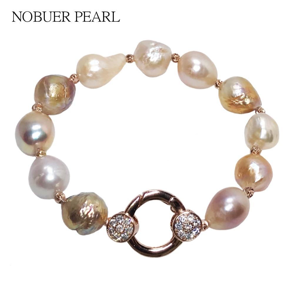 Nobuer ձեռնաշղթա Իրական մարգարիտ - Նուրբ զարդեր - Լուսանկար 1