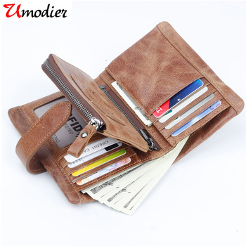 Genuine Cow Leather Men Wallet Luxury Brand Design Coin Purse Pocket Separable High Quality Trifold Male ID Card Holder Cluth