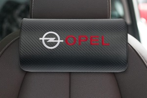 Image 5 - car neck pillows pu leather single headrest  filled fiber car pillow for OPEL Corsa Insignia Astra Antara Meriva Zafira OPC