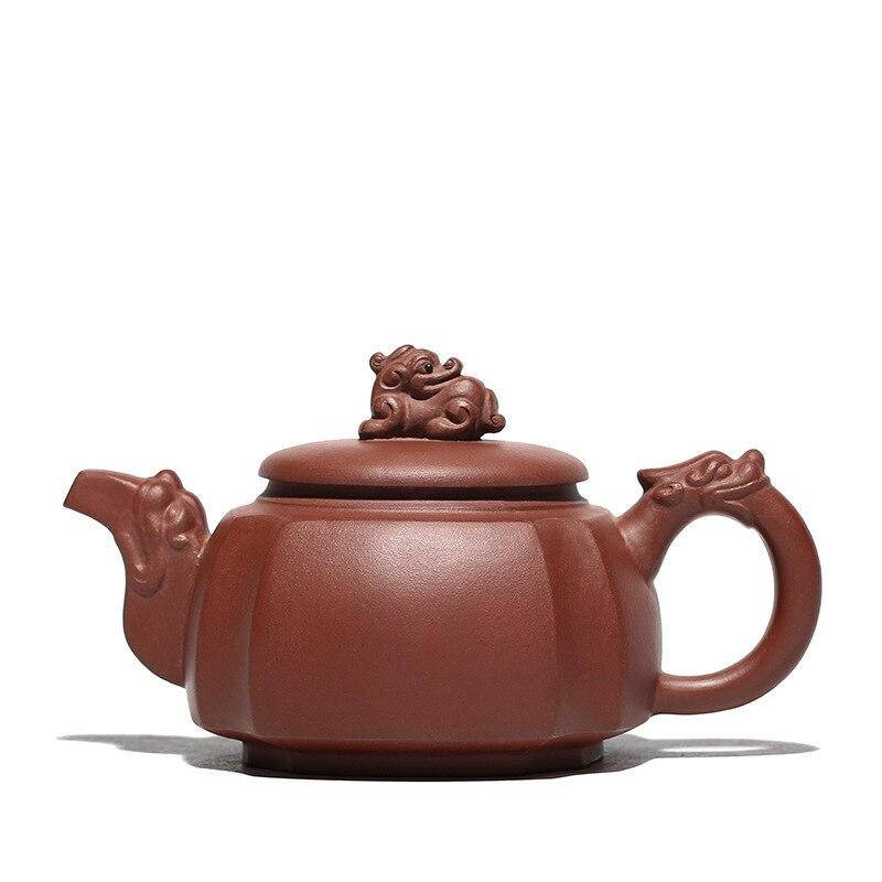 Yixing dragon teapot purple clay kung fu pot drinkware